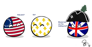 Polandball - Franco-American Alliance by TimeshiftParadox
