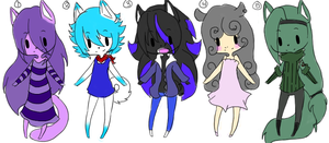 free adoptable batch 5 *CLOSED* by ookami8118