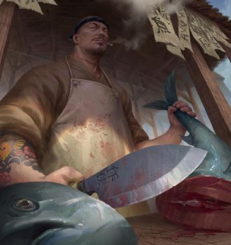 Fishmonger by NathanParkArt
