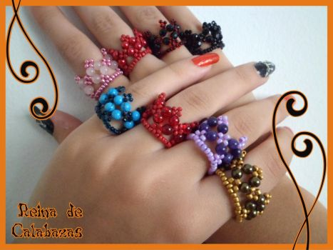Crown rings by anubis-pumpkinqueen