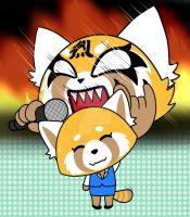 Aggretsuko by HiewGames10