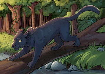 a panther that is black by MediocreSon