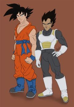 200316 Goku and Vegeta - Dragon Ball Super by saiyanhajime