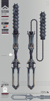 Warframe: Buzdovan - Tenno Flail Weapon Design by Liger-Inuzuka