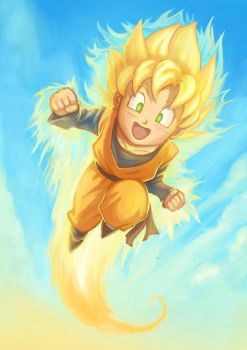 SSJ Goten Flying by Risachantag