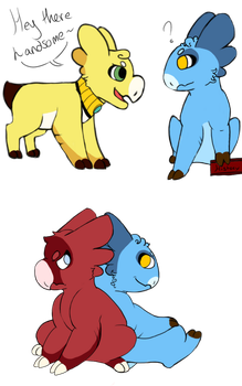 Yellow, Blue and Red by LouLouBaBa