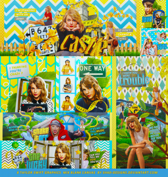 8 Taylor Swift  Graphics Mix Blank Canvas by shad-designs