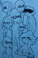 Squid kids WiP by Ncid