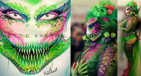venus fly trap monster by ARTSIE-FARTSIE-PAINT