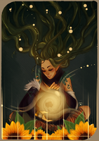 Commission: Tarot Card The Sun by AlexielApril