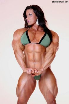 Female muscle 22 by BigDane