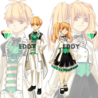 Adopts close [ Twins in musical school uniform] by EDDY-Melodia