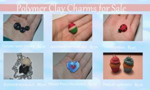 Polymer Clay Charms for Sale!! by PiinkKittyy