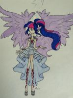 Legend of Everfree Princess Twilight (coloured) by AuraL14