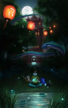 In the mystic garden by raven1303