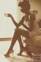 a pseudo silhouette of natural negro beauty by evolutionsky
