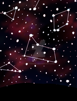 Starry Sky + Constellations by CryDontSmile