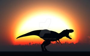 Silhouetted T.Rex by MasPix