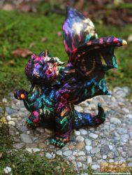 Retro Rainbow Dragon by The-SixthLeafClover