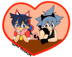 Chibi neko Tyson and Kai by blitzkriegyudith