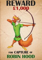 Robin Hood Wanted Poster by TheNoblePirate