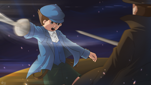 [PL] Luke vs Layton by cece-pha