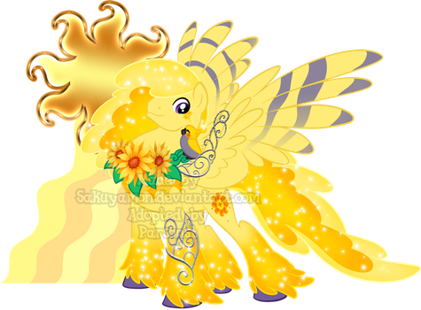Mystery Evolving Pony Adoptables -Yellow Stage 4- by Sakuyamon