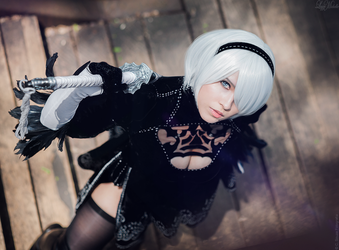 2B's ayes... by LayzeMichelle