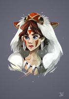 Princess Mononoke by Clovernight