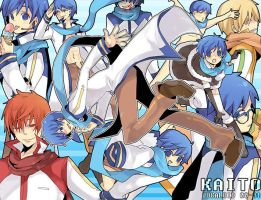 the many faces of KAITO by KL-chan