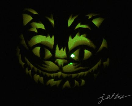Cheshire Cat Pumpkin Carving by Jellyfishcharms