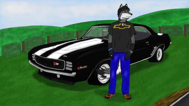 Miller and his Camaro by COD3-master