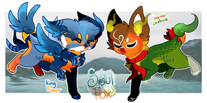 [Set Price- Closed] Lil Birb SoulFox Adoptables by SetSaiI