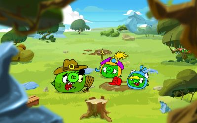 The Epic Piggies and the Multipurpose Knife by AngryBirdsStuff
