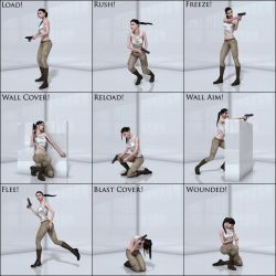 Nine Flawless Action Poses For Stalker Girl by DecanAndersen