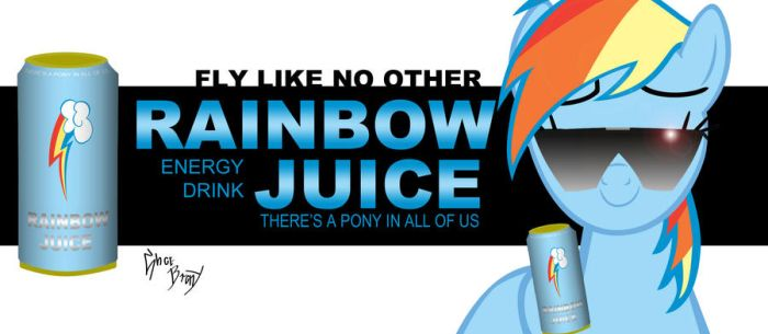 Rainbow Juice billboard by DoctorRedBird
