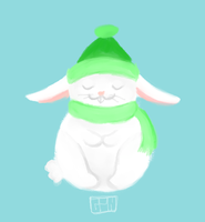 winter hare by yourmomscat