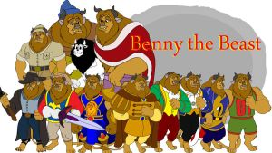 Benny the Beast Collage by KingLeoLionheart