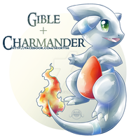 Gible x Charmander by Seoxys6
