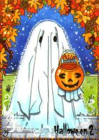 Hallowe'en 2 Sketch Card - Anastasia Catris 2 by Pernastudios
