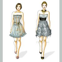 blue dresses by Tania-S