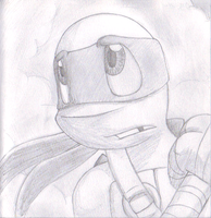 Donnie pencil drawing - Trouble Ahead by MetaLatias5