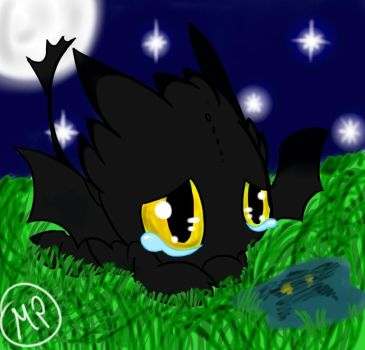 Baby Toothless by Maplepeltthecat
