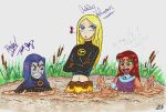 quicksand Teen Titans in color by TeenTitans4Evr