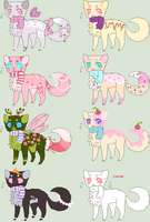 Adorable kitty scarf auction adopts by xBubblyTeax