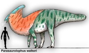Parasaurolophus walkeri by PLASTOSPLEEN