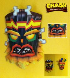 Crash Bandicoot - Uka Uka Papercraft by stange1337