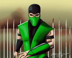 Reptile Mortal Kombat Speed Painting by AllenThomasArtist