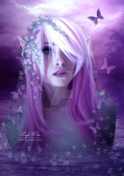Purple Water by babsartcreations