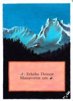 Altered 4th Edition Mountain by Serafiend